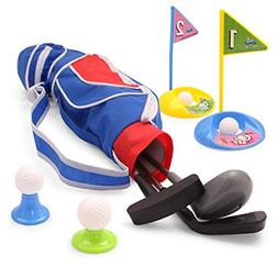 EXERCISE N PLAY Deluxe Happy Kids/Toddler Golf Clubs Set??Gr