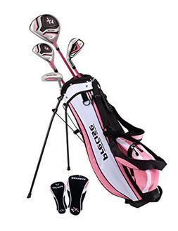 Distinctive Girls Pink Junior Golf Club Set for Age 3 to 5