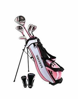 Distinctive Girls Pink Junior Golf Club Set for Age 9 to 12