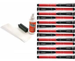Winn Dri-Tac Standard Grip Kit , Black/Red