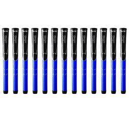 Winn Dri-Tac Midsize  Black/Blue DriTac - 13 Pieces Golf Gri
