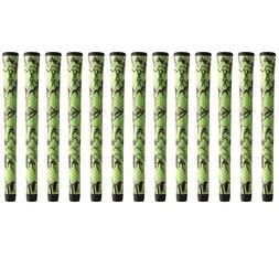 "Winn DriTac X Midsize +1/16"" Green/Black Golf Grip Bundle"