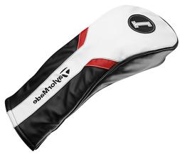 driver headcover white black red