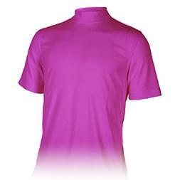 Monterey Club Mens Dry Swing Classic Pique Mock Neck Shirt #