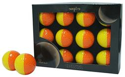 Nitro Eclipse Golf Balls , Orange/Yellow