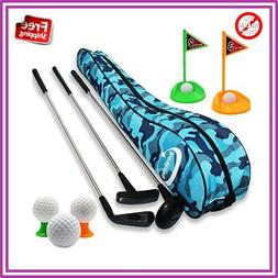 educational kids toy golf clubs set deluxe