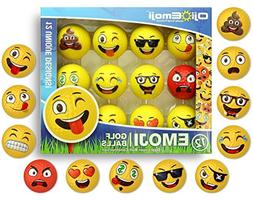 Oji-Emoji Premium Emoji Golf Balls, Unique Dual-Layer Profes