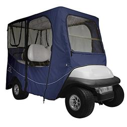 Classic Accessories Fairway Golf Cart Deluxe Enclosure, Navy