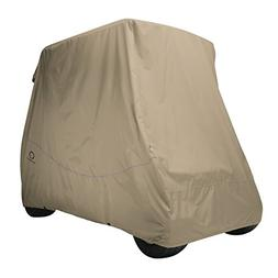 Classic Accessories Fairway Golf Cart Quick Fit Cover, Khaki