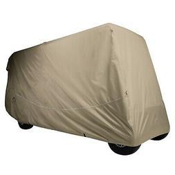 Classic Accessories Fairway Golf Cart Quick Fit Cover, Khaki