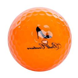 Ball Couture Fashionable Colored Golf Balls for Women Orange
