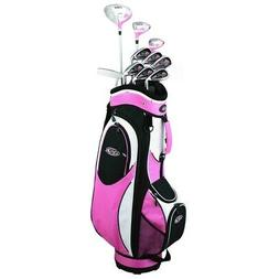 Golf Girl FWS2 PETITE Lady Pink Hybrid Club Youth Set & Cart