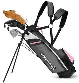 TAYLORMADE GIRLS RORY JUNIOR COMPLETE GOLF SET W/ BAG AGES 8