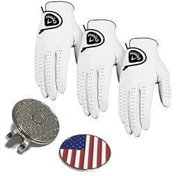 Set of 3 Callaway Glof Men's Dawn Patrol Gloves, Right Hand,
