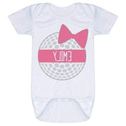 Golf Baby & Infant Onesie | Personalized Golf Ball Bow | Pin
