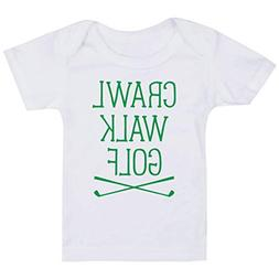 Golf Baby & Infant T-Shirt | Crawl Walk Golf | Green | Mediu