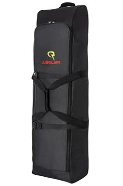 PALANKA Golf Bag Travel Cover with Built-in Wheels  Heavy Du