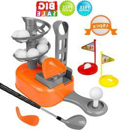 Golf-Balls-Game Gift, Kids Golf Clubs Toy Set Toddler Clubs