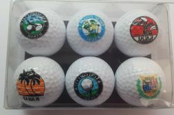 Golf Balls Pro USA Collector's Edition 6  Kauai Golf Clubs w