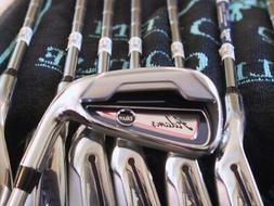 Adams Golf Blue Irons 5-PW,AW,SW DynaLite 85 Stiff Steel  Sh