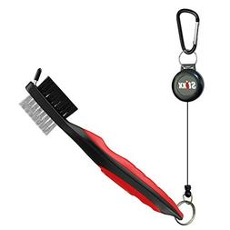 STIXX Golf Brush and Groove Cleaner with Retractable Clip, E