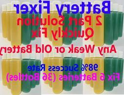 GOLF CART BATTERY REPAIR LIQUID Solution- 6,8 Volt EZGO, CLU