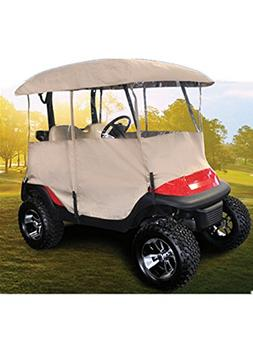 Golf Cart Enclosure Rain Cover, All Weather Deluxe 4-Sided f