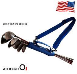 Golf Club Bag Holder Velcro Strap Carry Handle Driving Range
