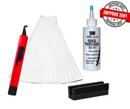 Golf Club GRIP KIT 13 Tape Strips , Solvent, Vise Clamp and