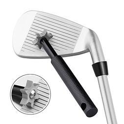 Golf Club Groove Sharpener Tool with 6 Cutters Black Gift Ne