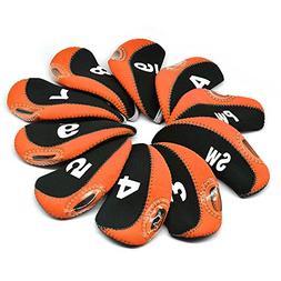BROTOU Golf Club Head Covers, 3-9 A/SW/PW Elastic Neoprene M