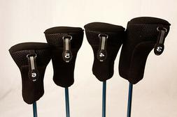 Golf Club Hybrid Headcovers New 3 4 5 6 Set Head Covers Fits