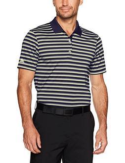 adidas Golf Men's Club Merch Stripe Polo, Noble Ink/Vista Gr