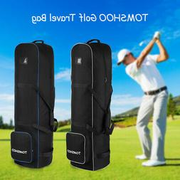 Golf Club Padded Travel Bag Flight Cover Case with Wheels gy