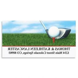 Golf Club Personalized Return Address Labels- Set of 144, La