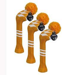 Scott Edward Golf Fairway Wood Club Head Covers, 3 Pieces Pa