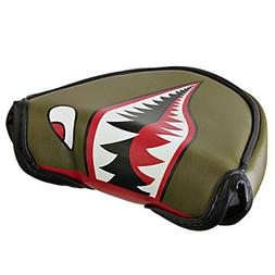 ODYSSEY Golf Fighter Plane Mallet Putter Headcover