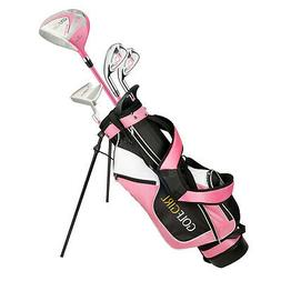 Golf Girl Junior Girls Golf Set V3 with Pink Clubs and Bag,