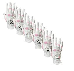 Women's Ladies Golf Glove Right Hand Left Value 6 Pack, Al
