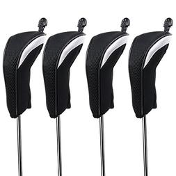 Hipiwe Golf Hybrid Club Head Covers Set 4pcs Club Irons Head