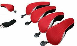Golf Hybrid Club Head Covers Set of 4 with Interchangeable N