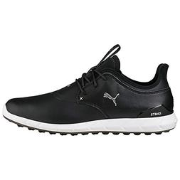 PUMA Golf Men's Ignite Spikeless Pro Shoes, Black Silver, 9