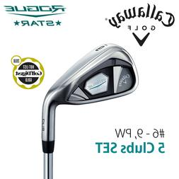 CALLAWAY GOLF JAPAN ROGUE STAR IRON SET #6,7,8,9,P  2018 Mod
