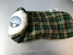 golf knit driver headcover green plaid streamsong