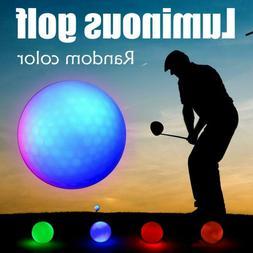 Golf LED Bright Light-up Ball Luminous Flashing Night Glow G