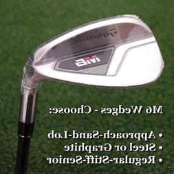 TaylorMade Golf M6: Approach/Sand/Lob Wedge-Steel/Graphite-R