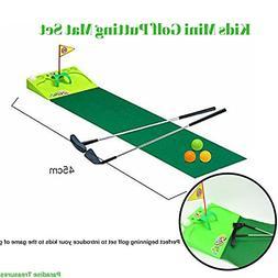 Kids Golf Set - Putting Mat Indoor and Outdoor Mini Golf for