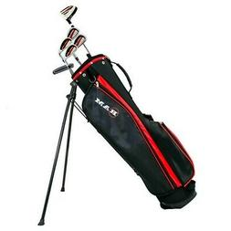 Ram Golf SGS Mens Left Hand Golf Clubs Starter Set with Stan