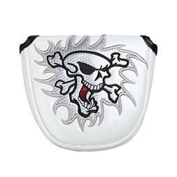 Sword &Shield sports Golf Skull Mallet Putter Cover Headcove