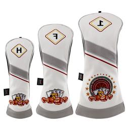 Golf Woods Club Headcovers For Taylormade Ping Cobra Driver/